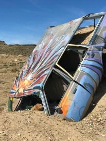 Goldfield, Nevada Graffiti Car Forest