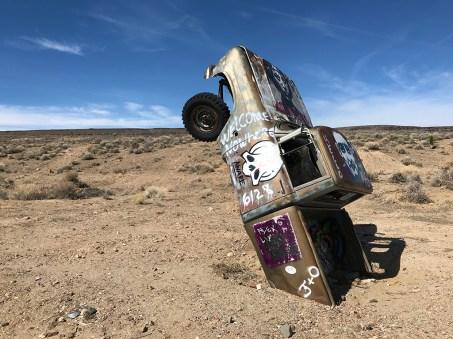 Nevada's Car Graveyard Covered In Graffiti