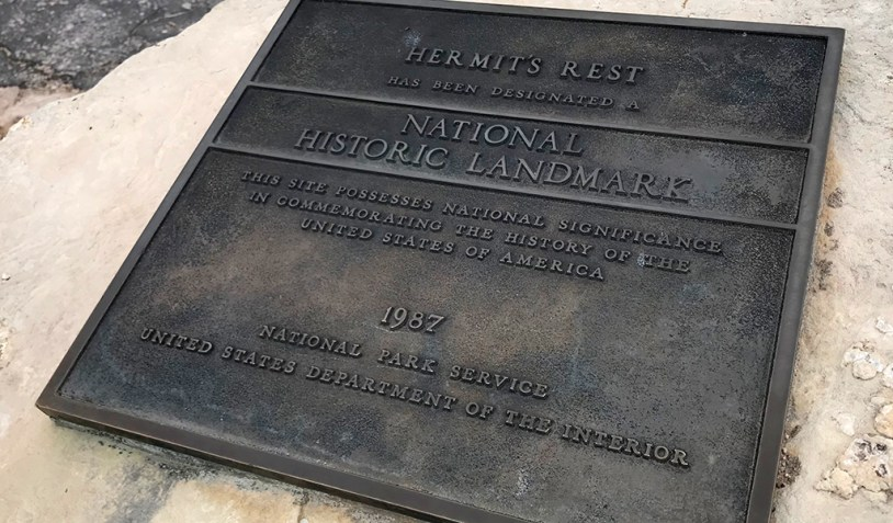 Hermit's Rest National Historic Landmark Plaque