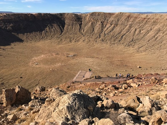 Natalie and Carter Bourn On One of the Meteor Crater Viewing Platforms