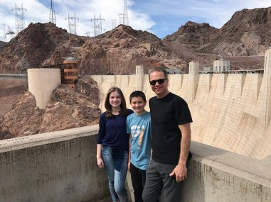 Natalie, Carter, and Brian Bourn at Hoover Dam