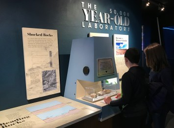 Carter and Natalie Bourn At The Discovery Science Center at Meteor Crater