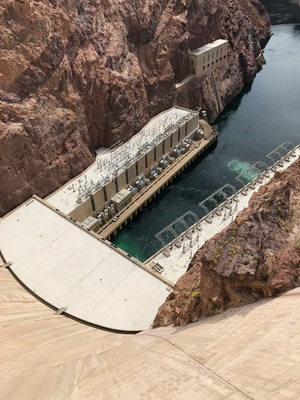 Looking Down At The Bottom Of Hoover Dam