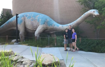 Carter, Natalie, and Brian Bourn at A Museum In vernal Utah