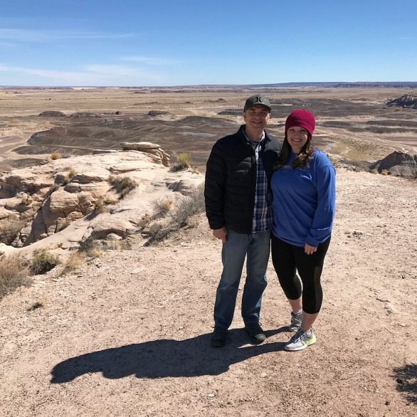 Brian and Jennifer Bourn at a Blue Mesa Road Vista Point