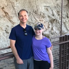 Brian and Natalie Bourn at the Dinosaur National Monument Wall Of Bones