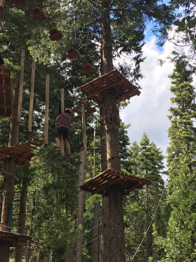 Carter Bourn at The Ropes Course And Zipline In Tahoe City