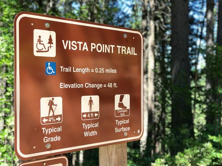Castle Crags State Park Vista Point Trail Sign