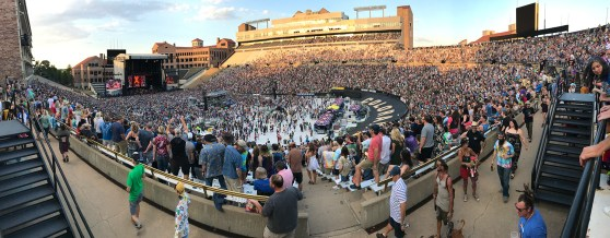 Dead & COmpany Concert at Folsom Field on July 13, 2018