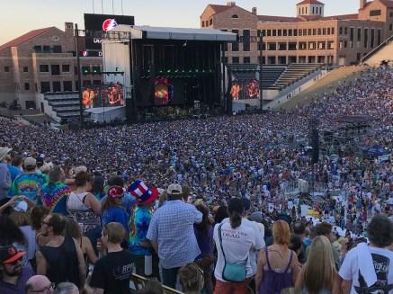 Dead & Company Crowd At FOlsom Field on July 14, 2018