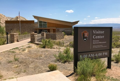 Dinosaur National Monument Visitor Center In Vernal, Utah