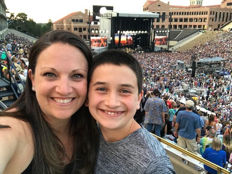 Jennifer and Carter Bourn at Folsom Field in Boulder