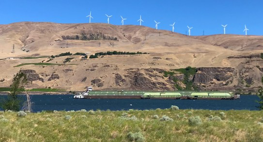 View Of The Maryhill Museum Of Art Across The Columbia River Gorge