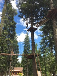 Natalie Bourn Ziplining in Lake Tahoe