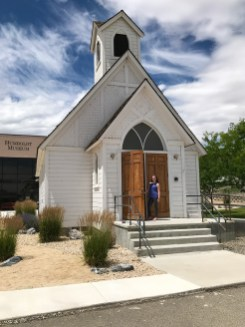 Natalie Bourn Outside The Church at the Humbolt County Museum