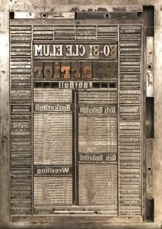 Printing Press Typesetting Display