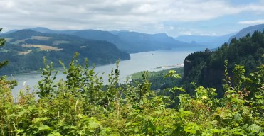 The View of Vista House at Crown Point from the Portland Women's Forum Overlook at Chanticleer Point in the Columbia River Gorge
