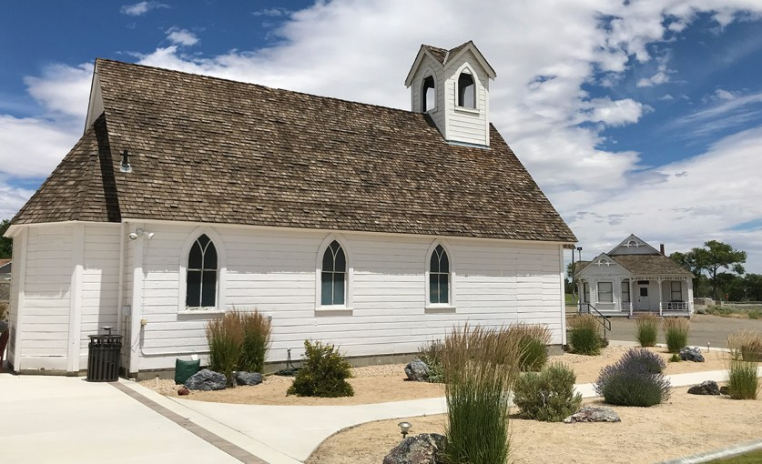 Walking the grounds of the Humbolt County Museum in Winnemucca, Nevada