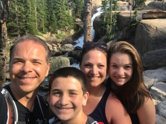 Bourn Family Selfie at Alberta Falls