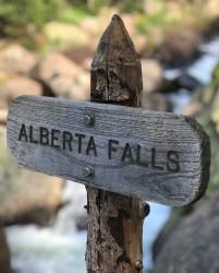 Alberta Falls Sign