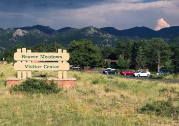 Beaver Meadows Visitor Center Sign