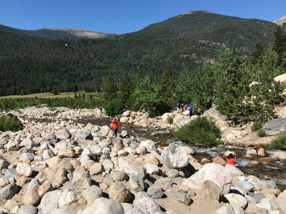 Bouldering at the Alluvial Fan in Rocky Mountain National Park