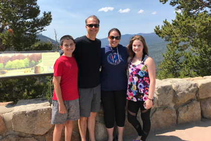 The Bourn Family At Farview Curve Overlook in Rocky Mountain National Park