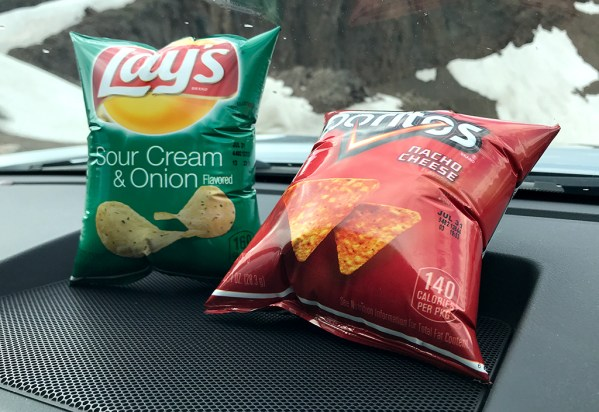 Chip Bags About To Explode From Elevation Change