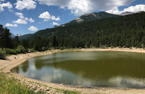 Copeland Lake in the Rocky Mountain National Park Wild Basin Area