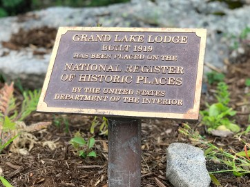 Grand Lake Lodge National Register Of Historic Places Plaque