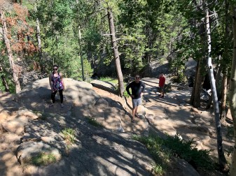 Hiking to the Chasm Falls Overlook in Rocky Mountain National Park