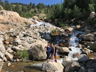 Jennifer, Natalie, and Carter Bourn at the Alluvial Fan Waterfall