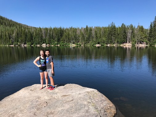 Natalie and Carter Bourn at Bear Lake at Rocky Mountain National Park