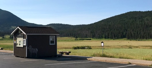 Ranger Information Station at Skeep Lakes In Rocky Mountain National Park