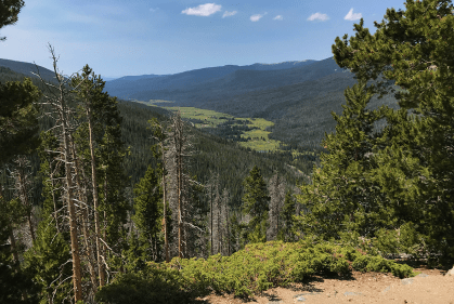 View of the Kawuneeche Valley And The COlorado River From The Farview Curve Overlook in Rocky Mountain National Park