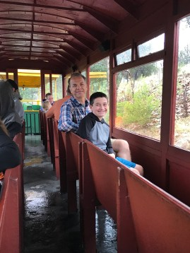 Brian and Carter Bourn aboard the Cripple Creek and Victor Narrow Gauge Railroad