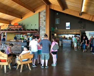 Canyon Rim Grill ANd Indoor Waiting Area And Gift Shop At Cave Of The Winds