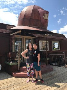 Natalie and Carter Bourn at the Mollie Kathleen Gold Mine Snack Bar