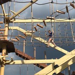Natalie Bourn on the Wind Walker Challenge Course