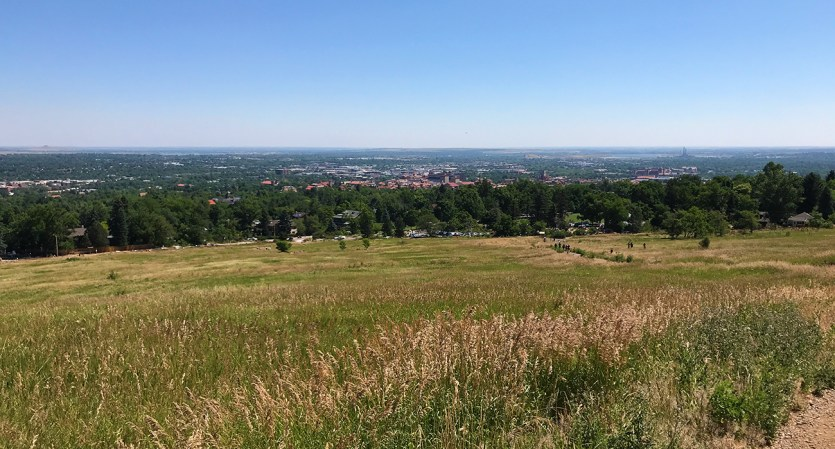 View Of Boulder, Colorado From The Chautauqua Trail