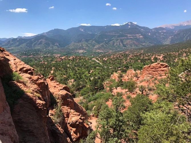 View From The Top Of A Rock Formation at Garden Of The Gods