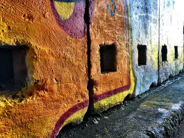Hike Through Abandoned Concrete Snow Sheds With Graffiti