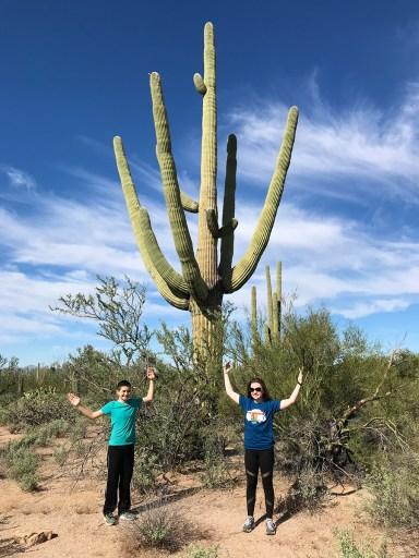 Carter and Natalie Bourn Standing Like a Saguaro