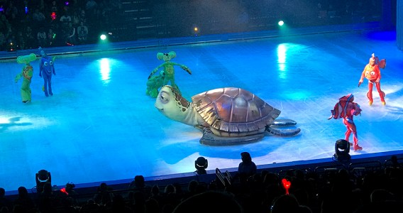 Crush From Finding Dory in Disney On Ice at the Golden 1 Center