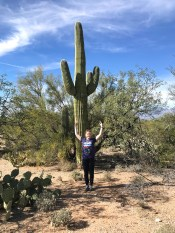 Natalie Bourn In Front of A Giant Saguaro Cactus