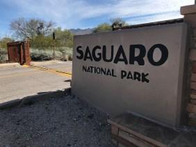 Saguaro National Park Entrance Gate
