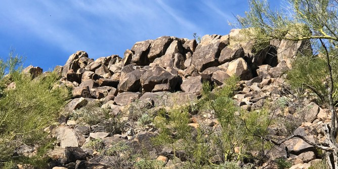 Signal Hill Petroglyph Site View From Trail