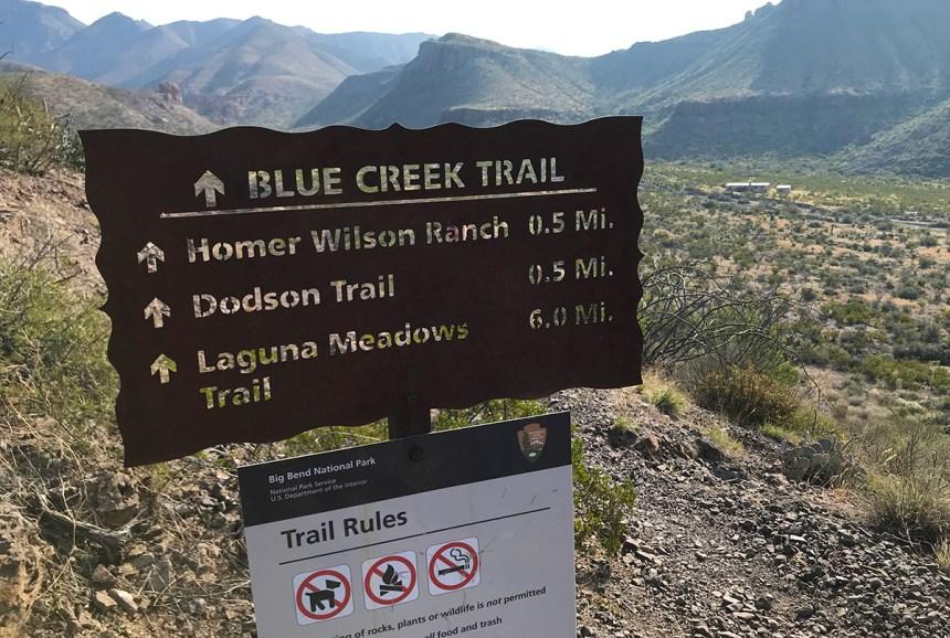 Blue Creek Trail Sign