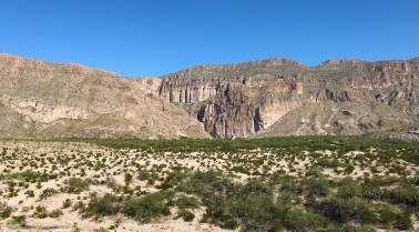 View at the Boquillas Canyon Overlook at Big Bend National Park