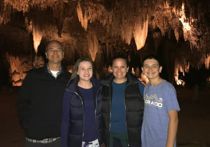 Bourn Family at Carlsbad Caverns in New Mexico
